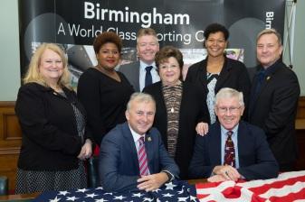 Visit to Birmingham by USA Athletics team organisational team. Photo credit : Dave Warren